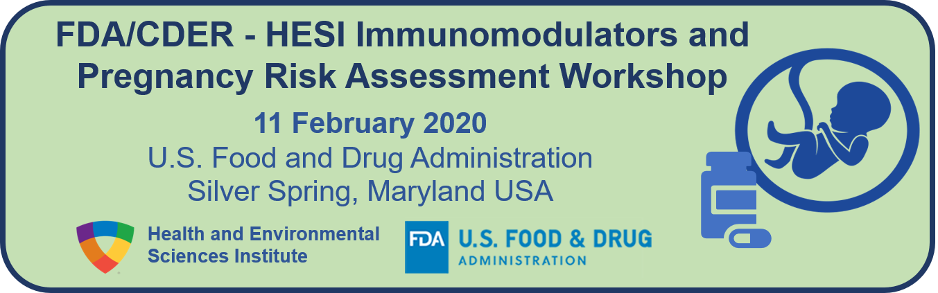 FDA CDER Immunomodulators and Pregnancy Workshop